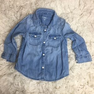 GAP toddler girl chambray shirt
